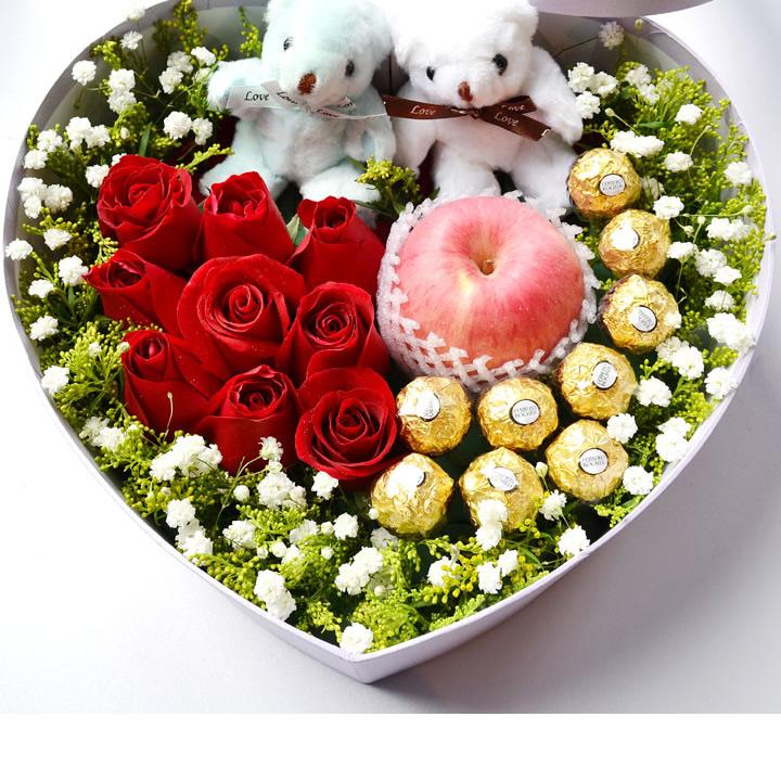 一直在爱你——快送鲜花网 圣诞鲜花礼盒 玫瑰礼盒 平安夜鲜花订购 情人节鲜花预定 鲜花快捷 圣诞节送花