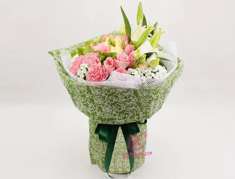 你的笑容—快送鲜花网|母亲节花束|邮政订花|异地送鲜花|送康乃馨