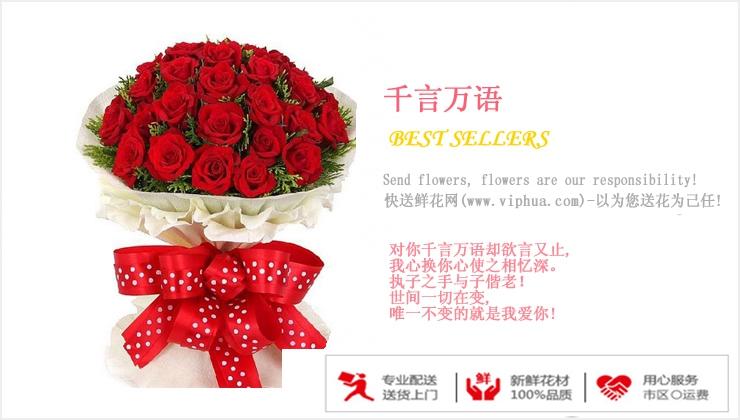 千言万语—快送鲜花网 情人节鲜花速递 异地订花 同城快递鲜花 网上订鲜花 节日鲜花