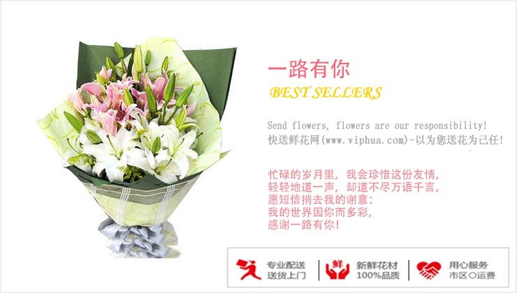 一路有你—快送鲜花网|石家庄订花|异地送花|网上订购送外地鲜花