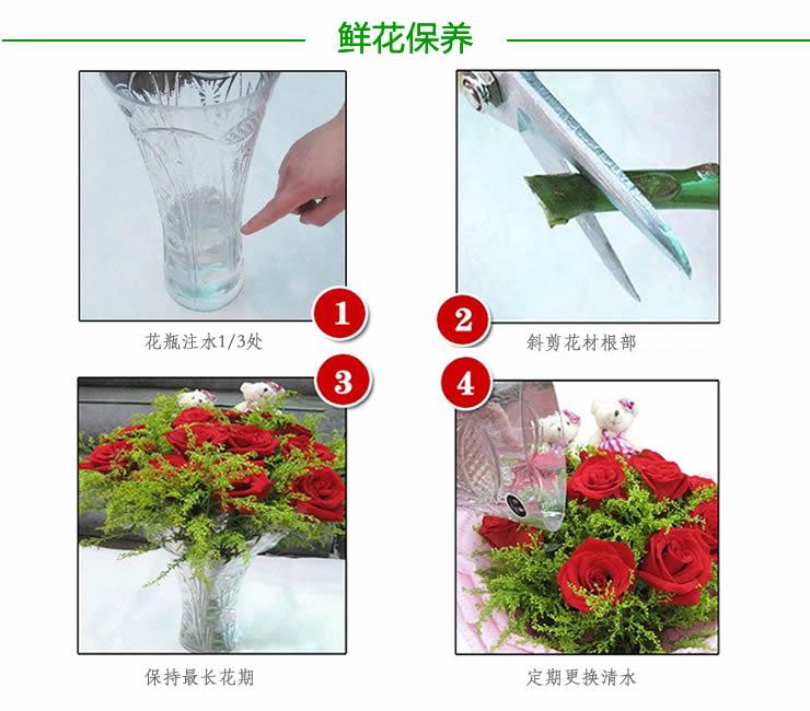 鲜花快递(www.viphua.cn)玫瑰花保质期
